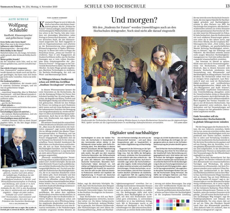 20191104 SZ Nachhaltigkeit Hochschulen